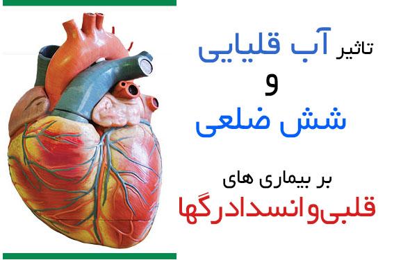 تاثیر آب قلیایی و شش ضلعی بر بیماری های قلبی و انسداد رگها